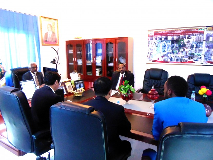 Interior Minister in his office a delegation from China